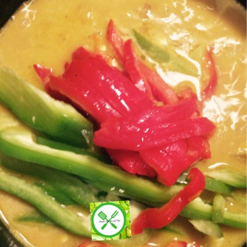 Pineapple Chicken Curry add bell peppers