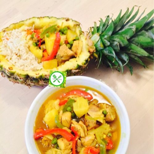 Pineapple Chicken Curry served