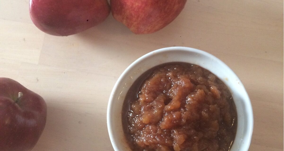 apple butter in a cup