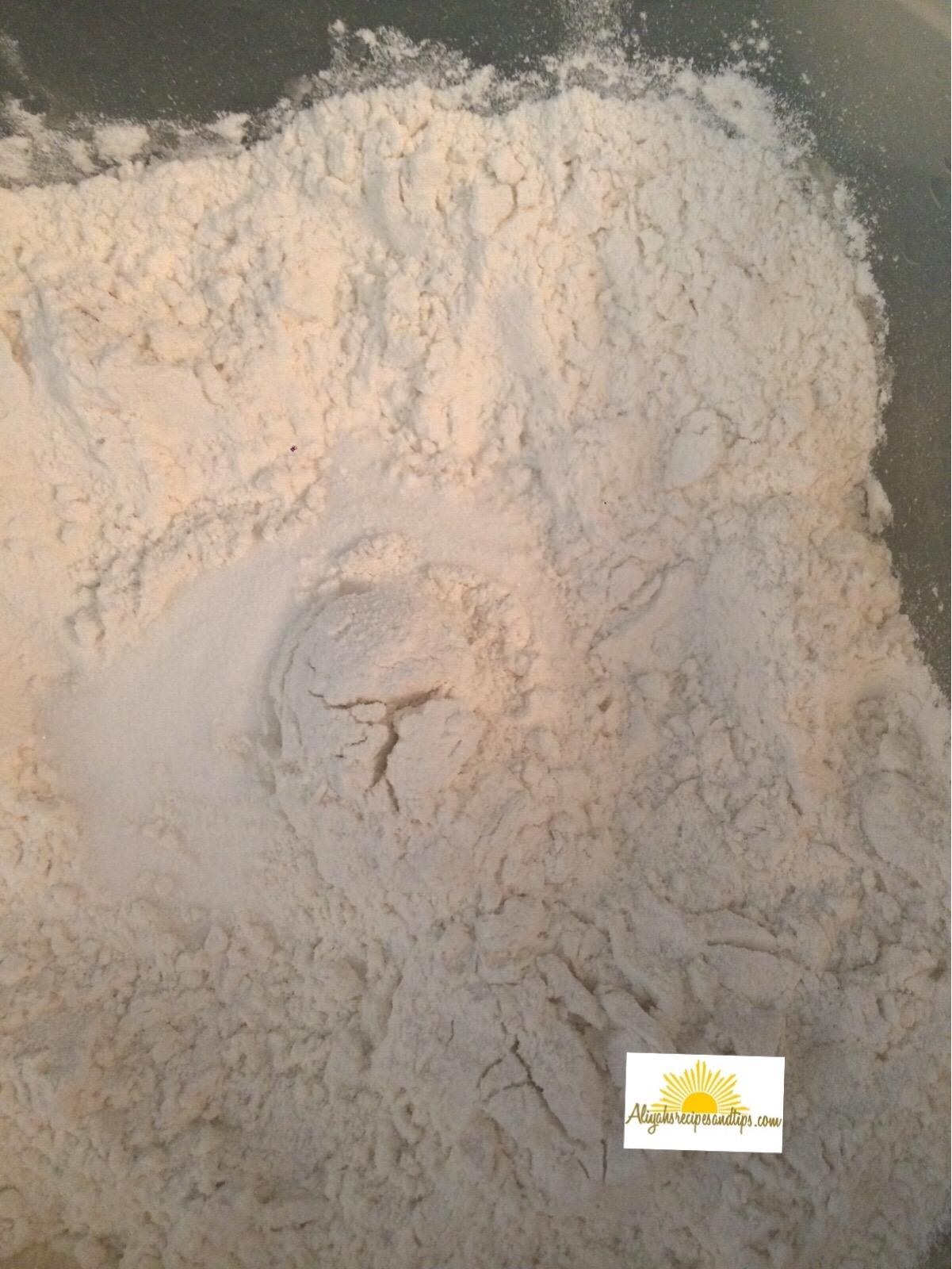 bread flour with sugar
