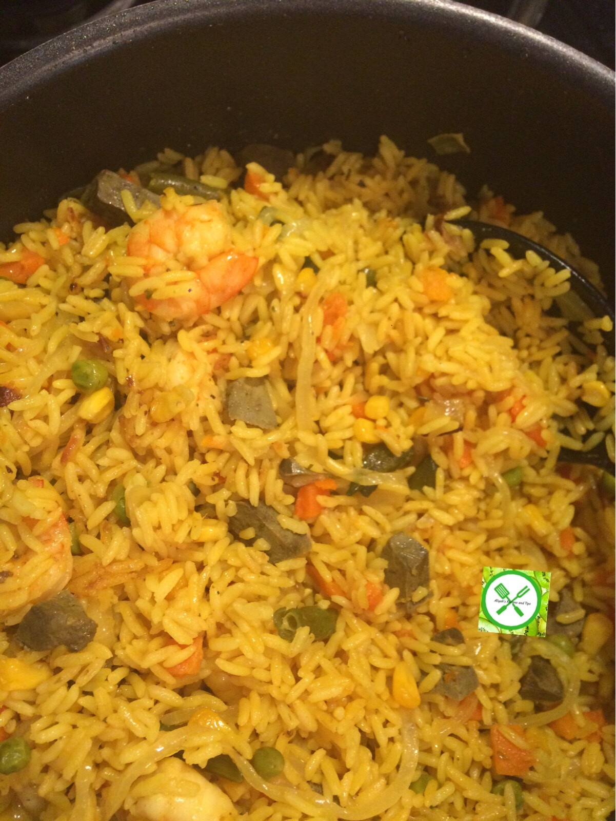 fried rice in a pot