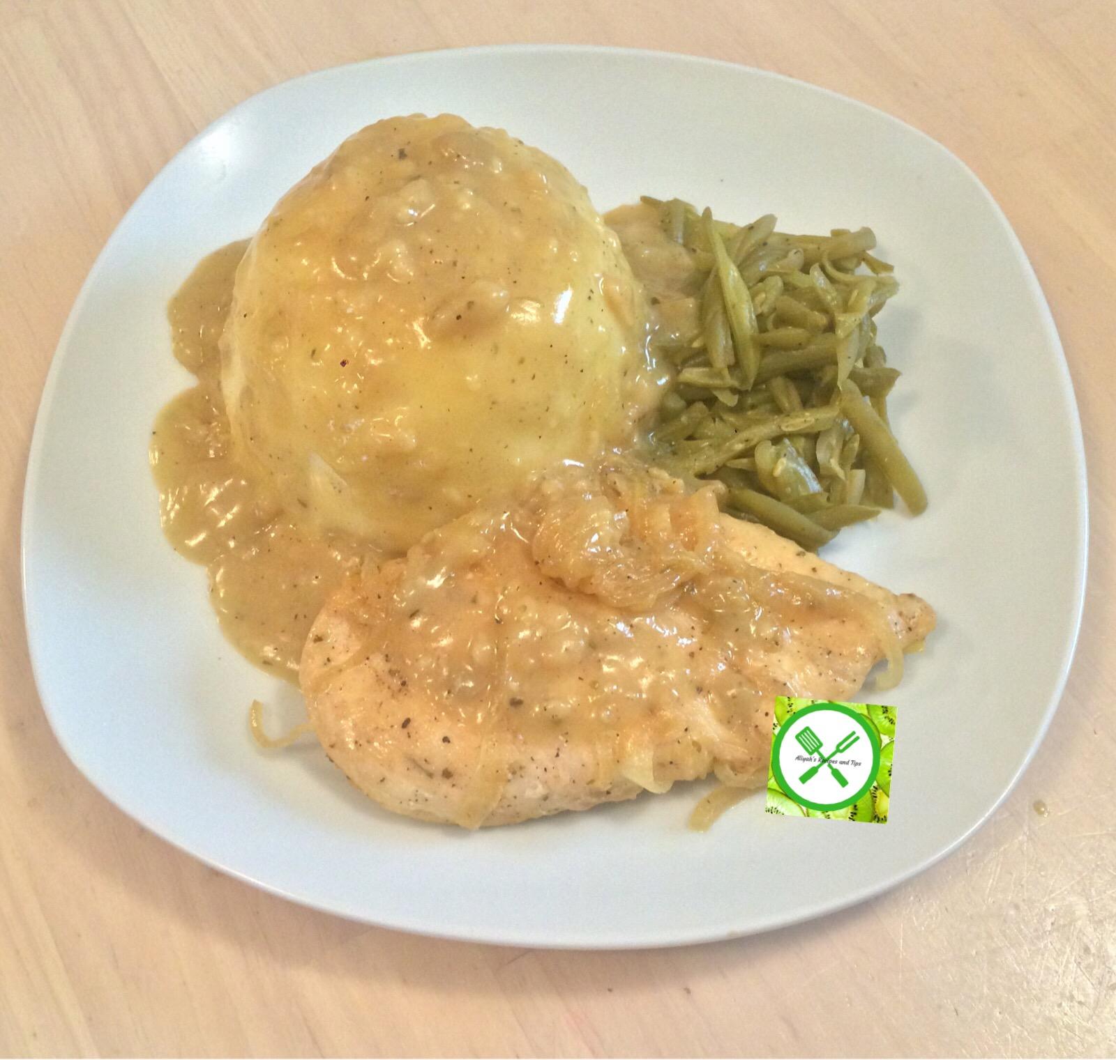 mashed potatoes served