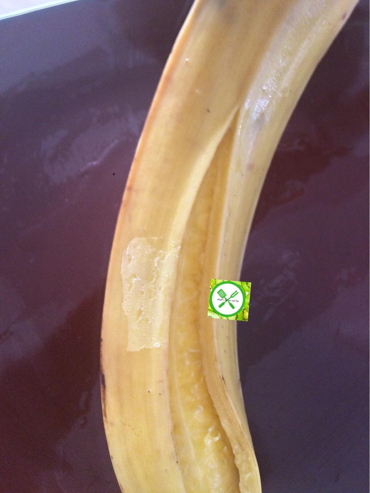 plantain splits open