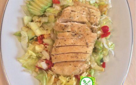 Salad served