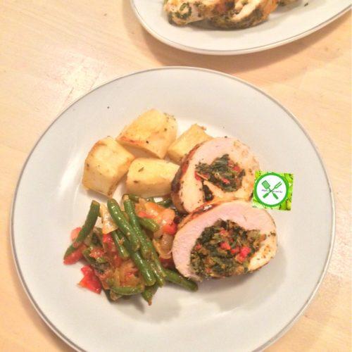 turkey stuffed served