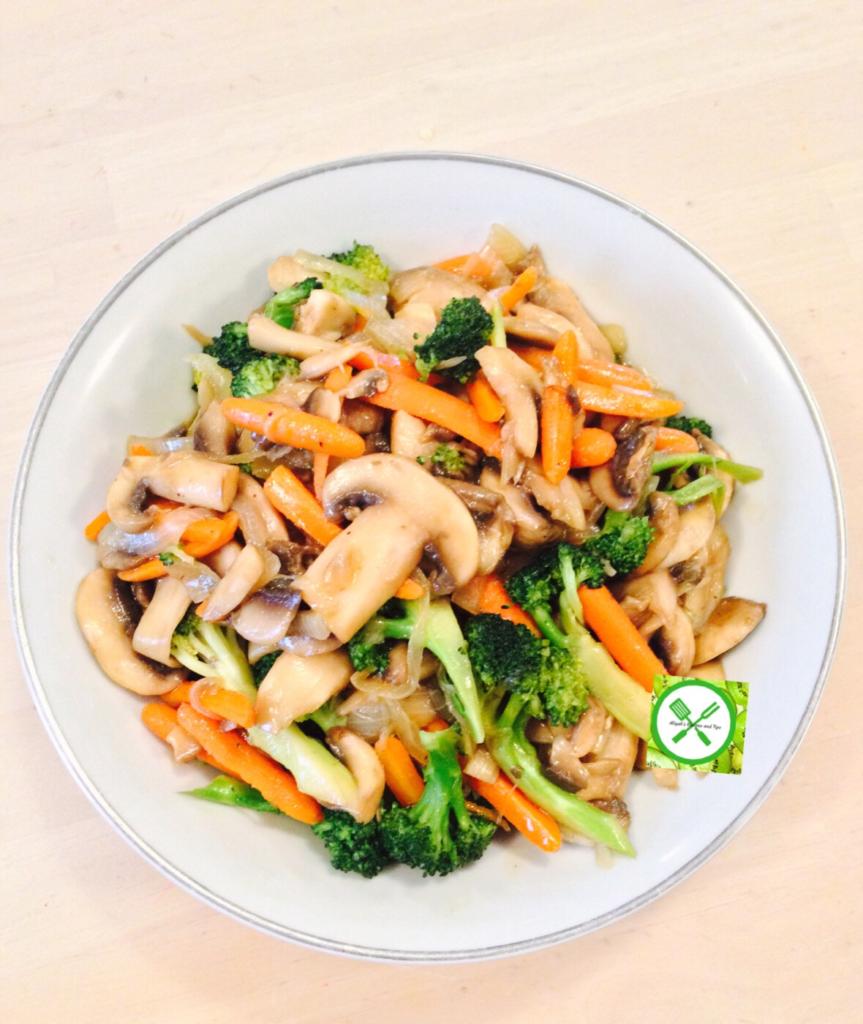 veg with teriyaki only served