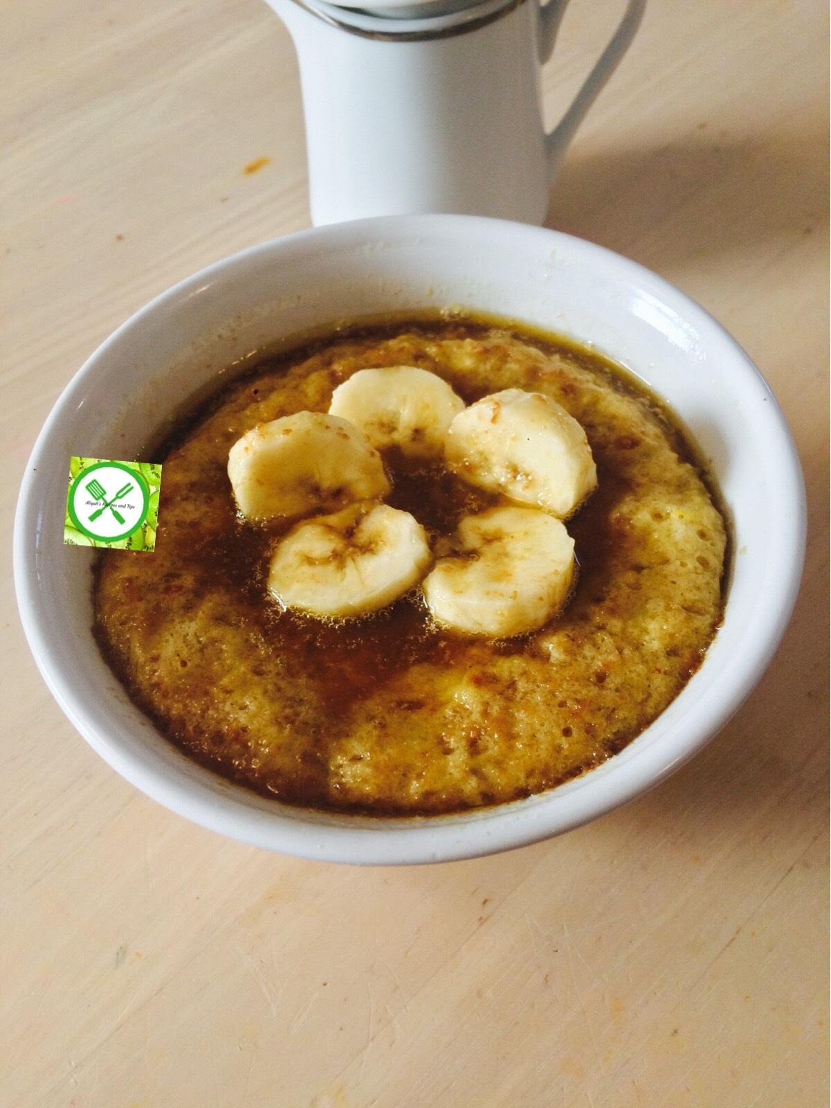 Easy Banana Mug Cake - Aliyah's Recipes and Tips