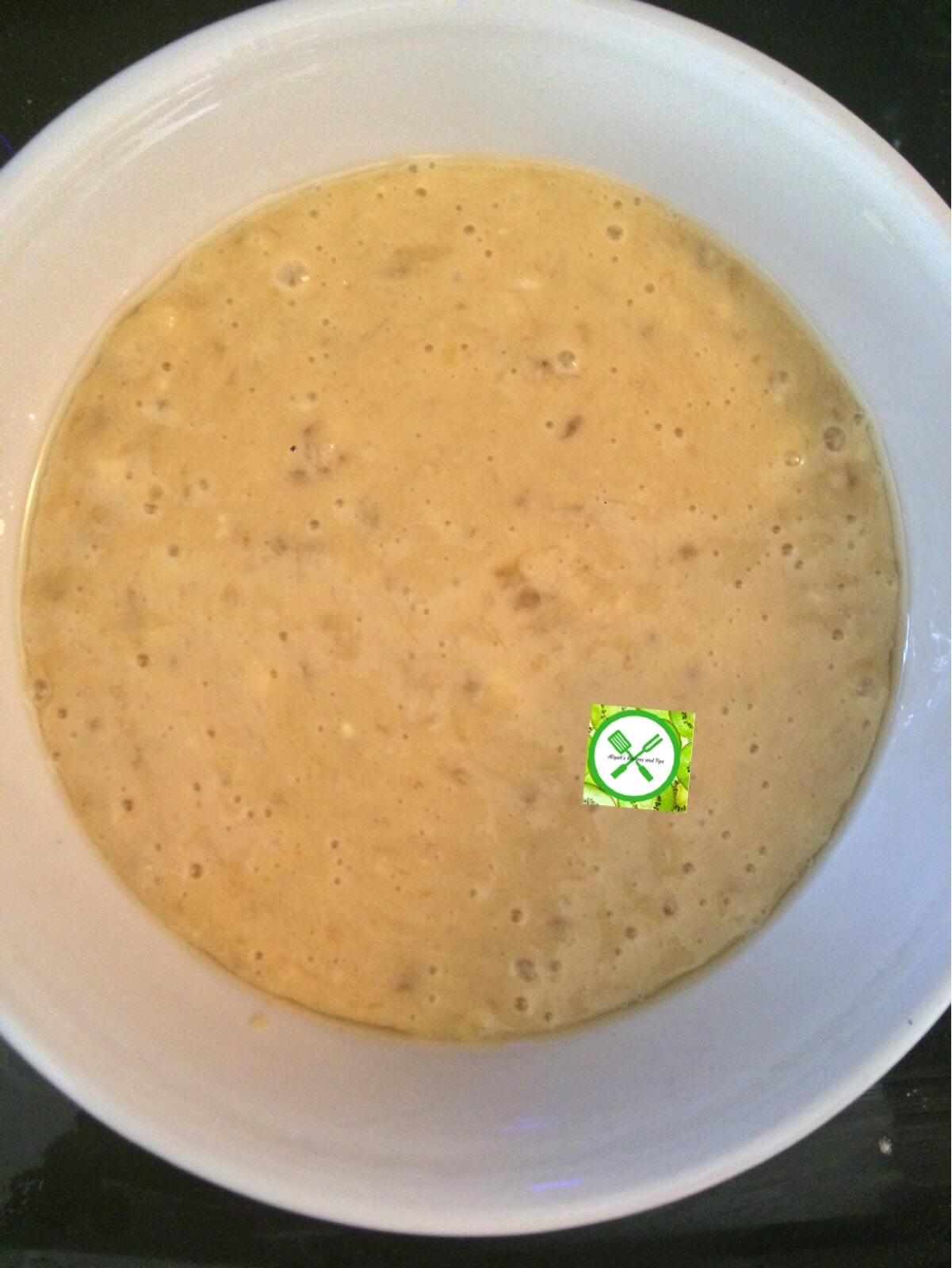 Banana Mug Cake mixture