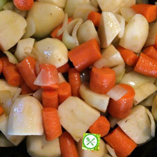 Braised chicken with veggies add veggies