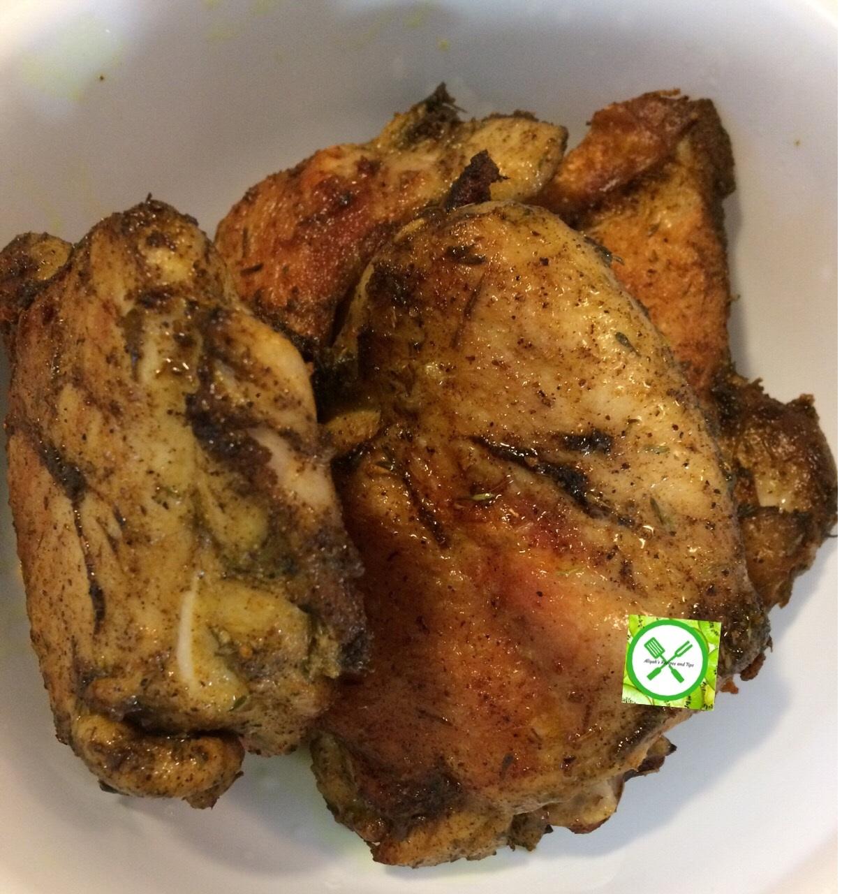 Braised chicken with veggies cooked chicken