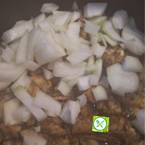 Chicken Vegetable Sauce add onions