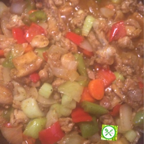 Chicken Vegetable Sauce add sauce
