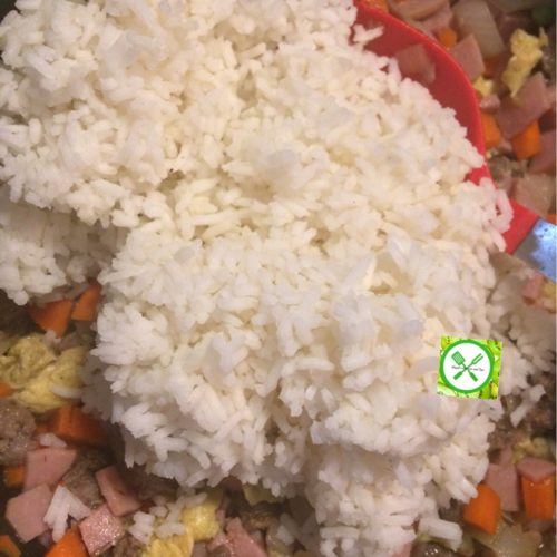 Chinese Fried Rice add rice