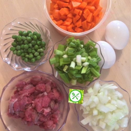 Chinese Fried Rice ingredients
