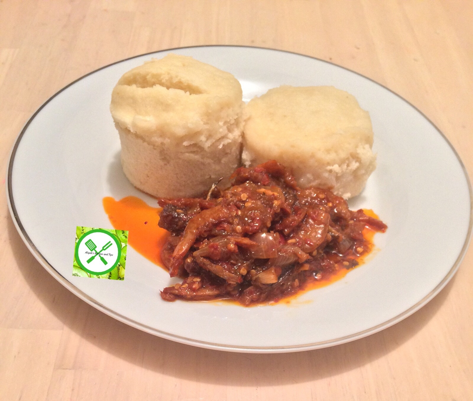 Ekuru and Stew (White moi moi and fried stew), ekuru, how to make ekuru, ofuloju, how to make ekuru, how to make ofuloju