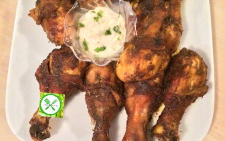 Paprika chicken served