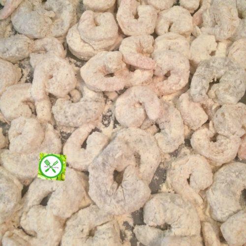 Popcorn shrimps dredged
