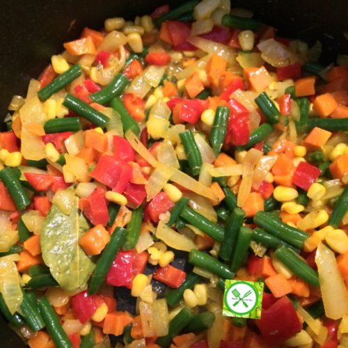 Stir fry couscous veggies