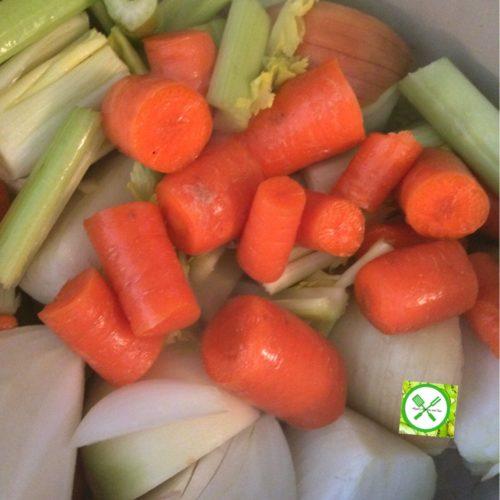 turkey stock veggies cut out