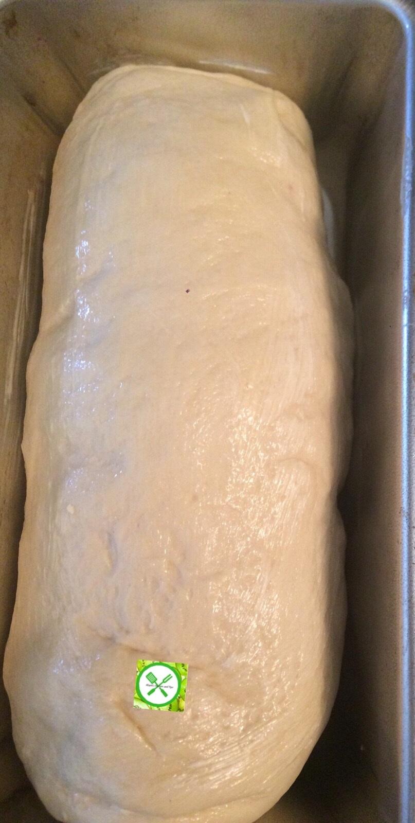 White sandwich bread in a pan