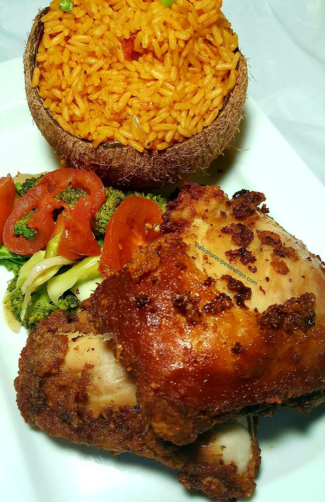 Coconut jollof rice, Nigerian jollof rice, recipe, beautiful, cooking, Ghana jollof, Ghana, traditional, African jollof rice, food, Senegalese, Chicken, Party jollof rice, Spicy, coconut jollof rice, Aliyah recipes, Party rice, Nigerian rice