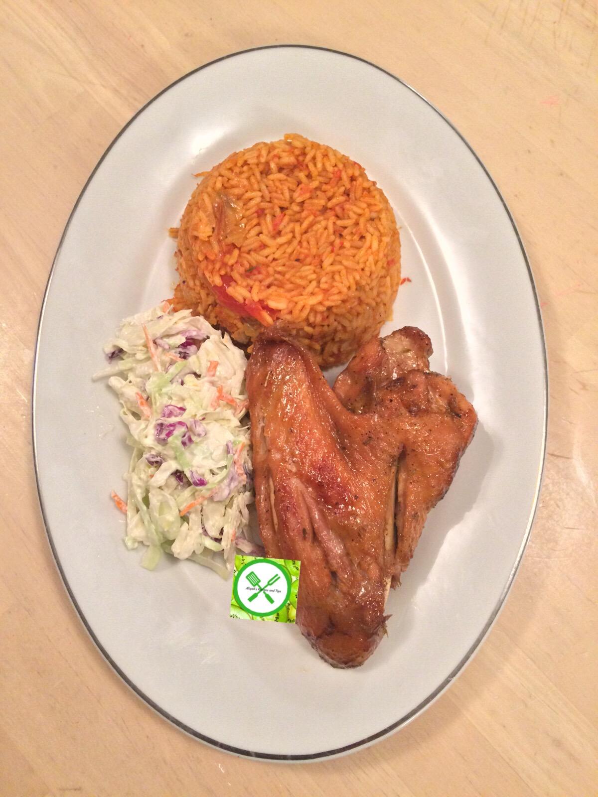 jollof rice served