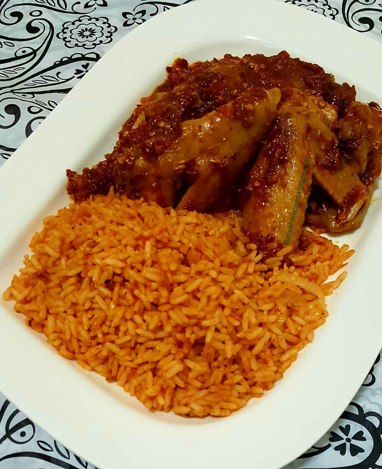 Nigerian jollof rice, recipe, beautiful, cooking, Ghana jollof, Ghana, traditional, African jollof rice, food, Senegalese, Chicken, Party jollof rice, Spicy, coconut jollof rice, Aliyah recipes, Party rice, Nigerian rice