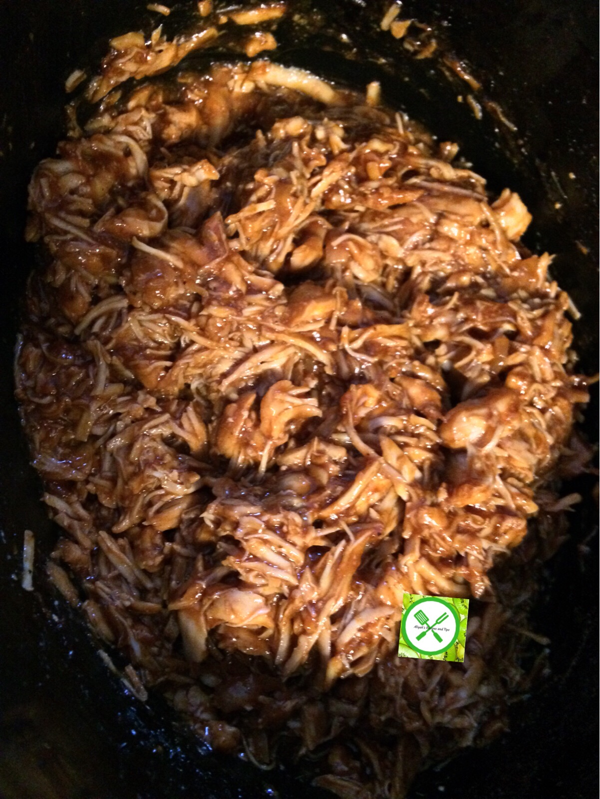 pulled chicken done in a pot