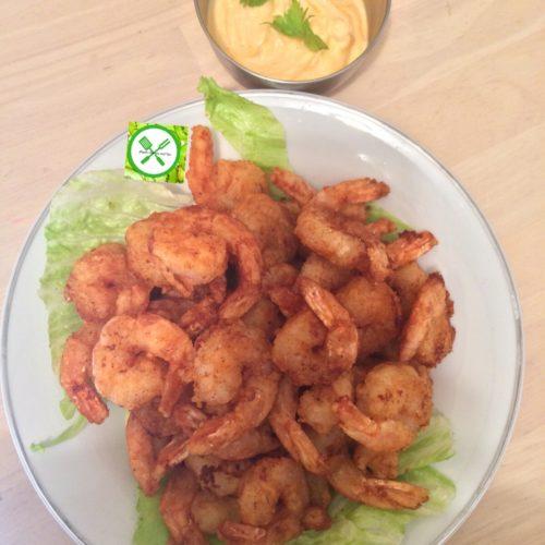 Bang bang shrimps served