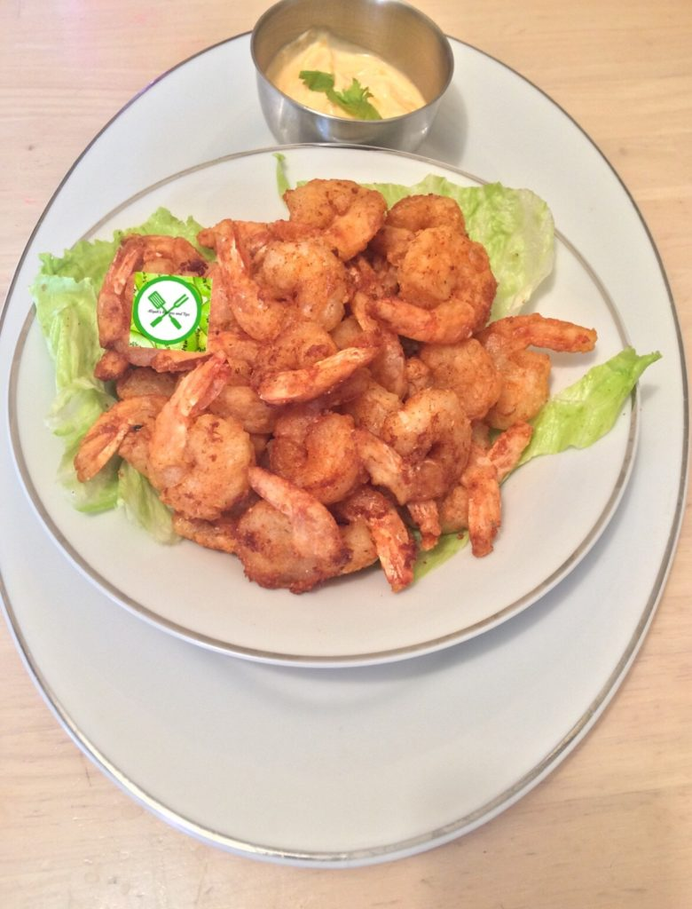 Bang bang shrimps with sauce