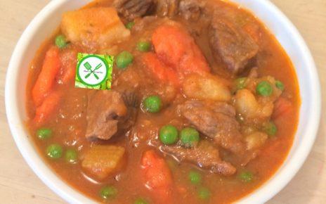 Beef n veggies stew beef served