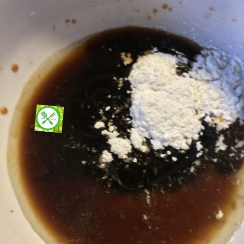 Chicken stir fry w bro n green beans sauce