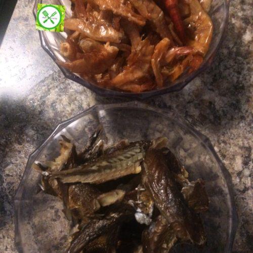 Fried p. oil stew dried fish