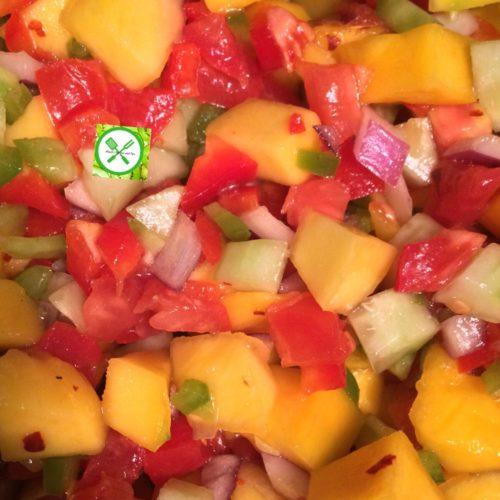 Mango salsa add lemon