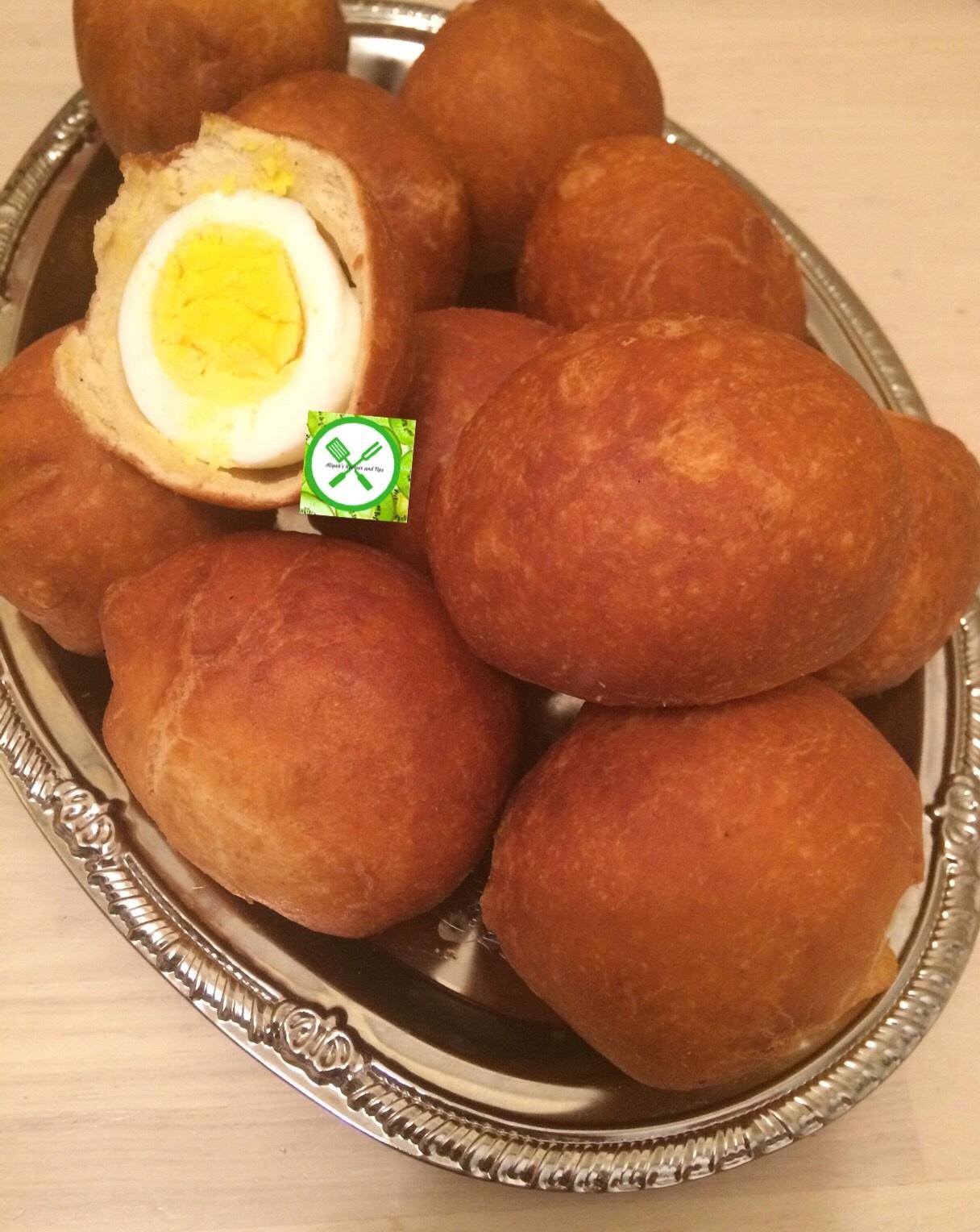 Nigerian egg rolls ready