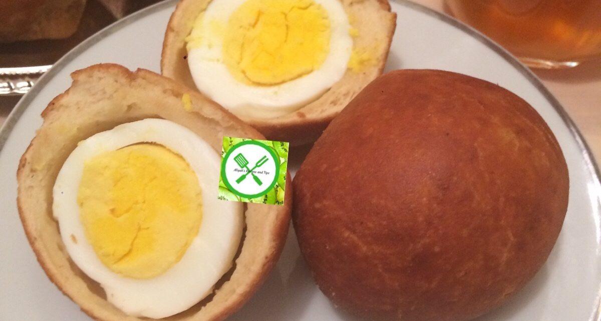 Nigerian egg rolls served