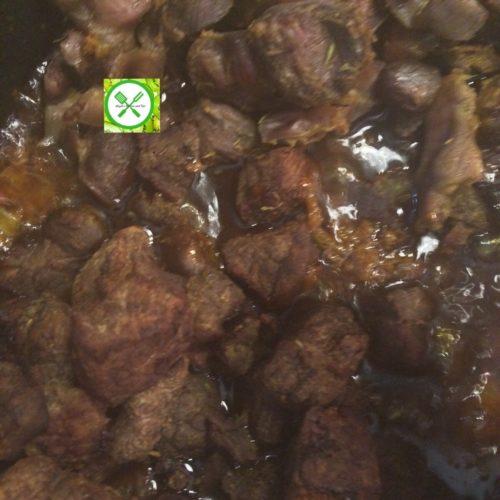 Spicy fried stew add beef