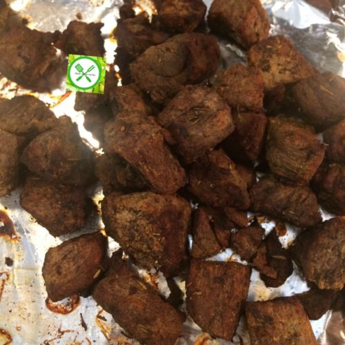 Spicy fried stew baked beef