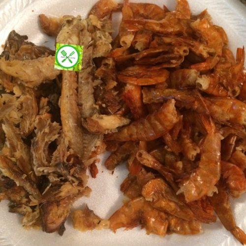 Spicy fried stew fish n shrimps