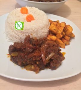Spicy fried stew served
