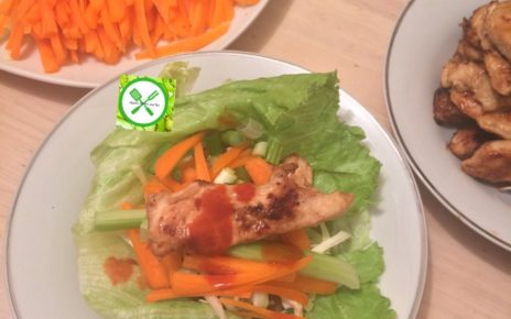 chicken lettuce served