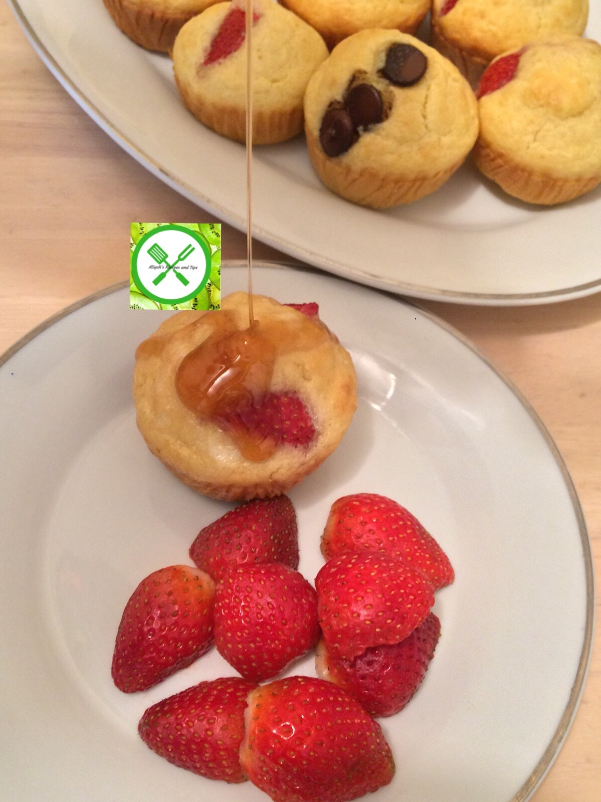pancake muffins with syrup