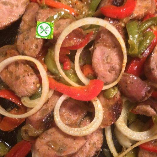 peppered sausage mixture
