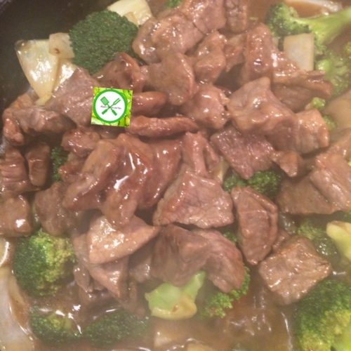 Easy beef and broccoli add beef