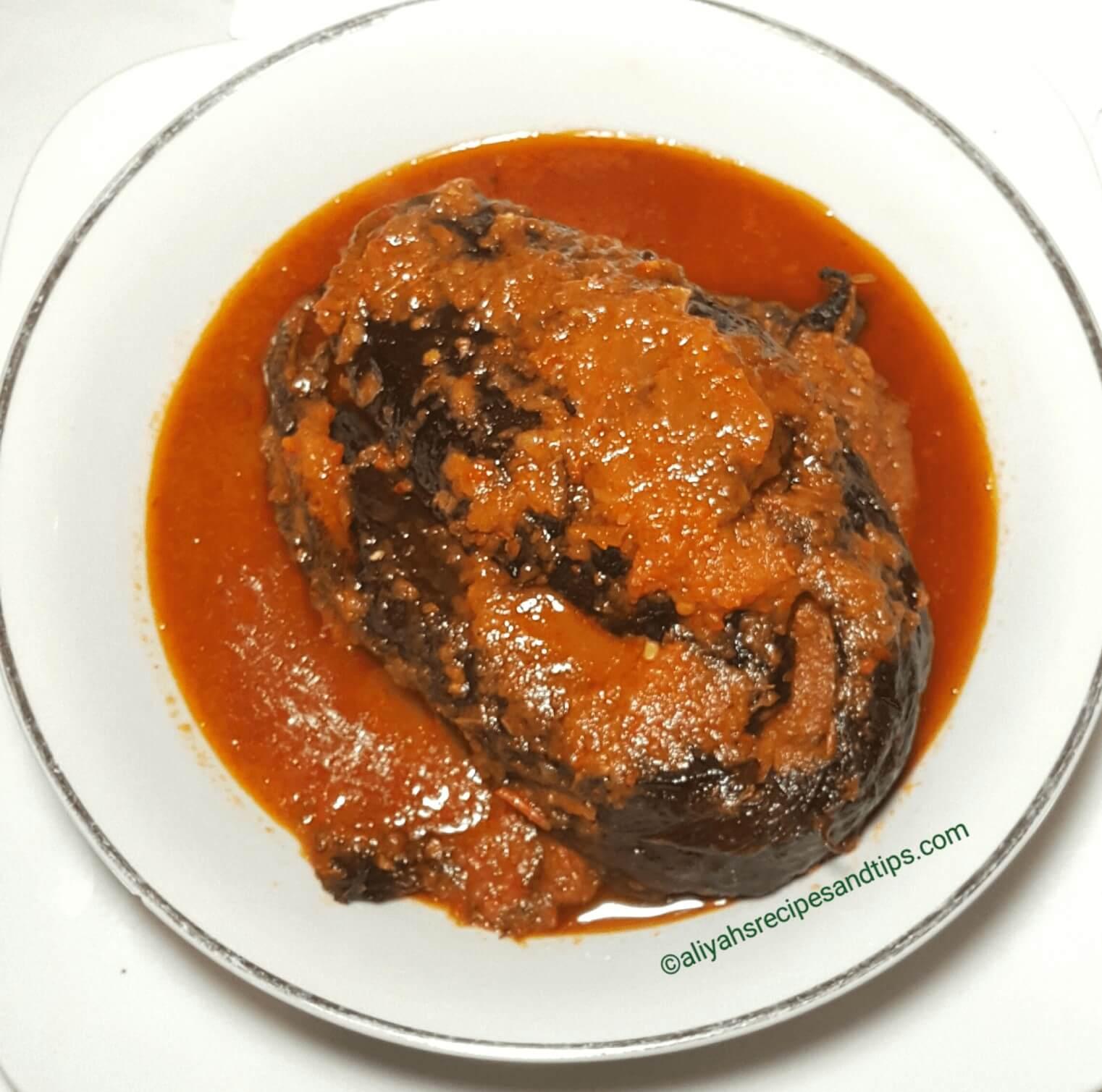 Dried fish, obe ata, Nigerian dried fish soup, Nigerian dried fish stew