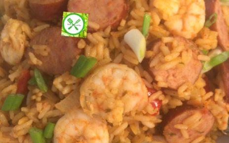 sausage and shrimps jambalaya