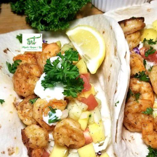 shrimp tacos, chipotle, spicy, recipe, mango, salsa, avocados, easy, Mexican, shrimp tacos, spicy shrimp tacos, tacos with salsa, shrimp tacos, mango salsa, tacos, tuesday tacos