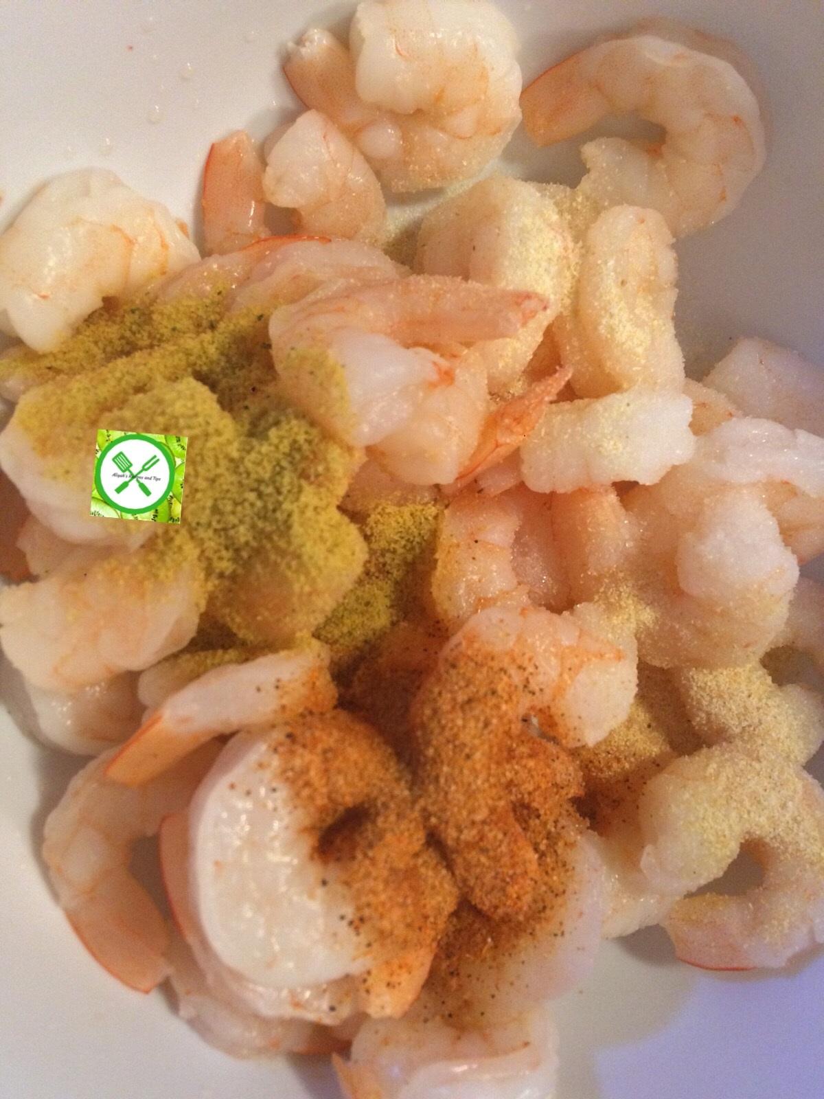shrimp tacos add seasonings