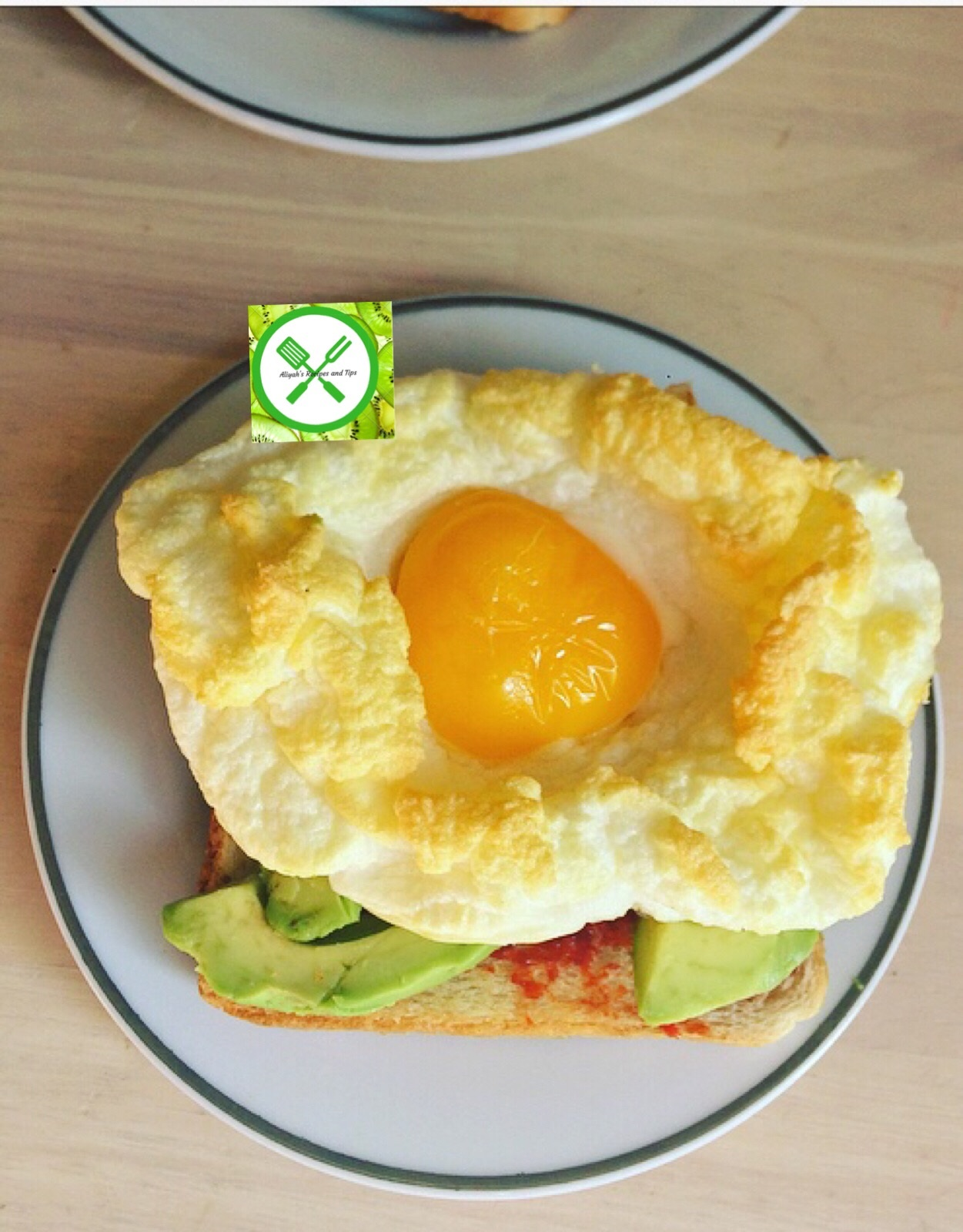 Egg cloud with toasted bread