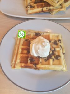 Parmesan waffle with ground beef